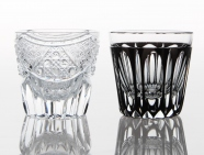 Times Now Past Pair Sake Shot Glasses - Edo Kiriko