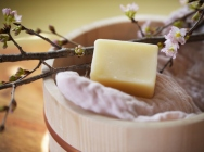 SAKE Natural Soap with Mitten  - skincare