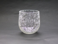 Snow Flower Sake Glass (Round)