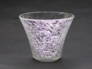 Snow Flower Sake Glass (lowball glass)