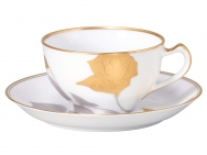 Etched Rose (Cup & Saucer)