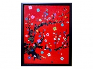 Oil picture / plum tree (Taro Otani painting / graphics)