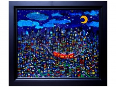 Oil picture / City (Taro Otani painting / graphics)