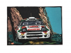 Toyota Celica WRC Model - wood-print art