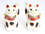 Kutani Beckoning Cat (Maneki-neko) Calico