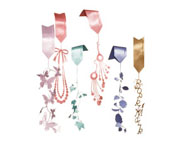 Bookmark Set - ribbon bookmark