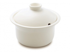 Heat Resistant Ceramic Stew Pot - Large White