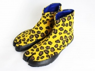 """Tabi"" Split-toe Footwear (Leopard Yellow)"