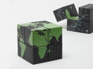 Twistable GLOBE of Eight Cubes [EARTH & SKY]