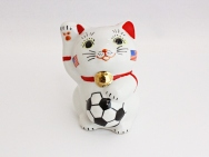 [USA] Football Maneki Neko Lucky Cat