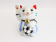 [Argentina] Football Maneki Neko Lucky Cat