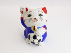 [Japan] Football Maneki Neko Lucky Cat