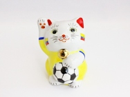 [Ecuador] Football Maneki Neko Lucky Cat