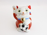 [Chile] Football Maneki Neko Lucky Cat