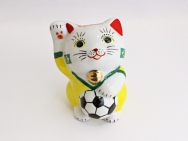 [Brazil] Football Maneki Neko Lucky Cat