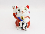 [Costa Rica] Football Maneki Neko Lucky Cat