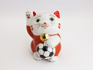 [Switzerland] Football Maneki Neko Lucky Cat