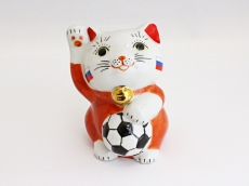 [Russia] Football Maneki Neko Lucky Cat