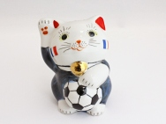 [France] Football Maneki Neko Lucky Cat