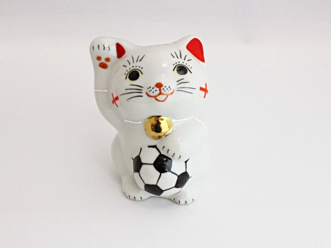 [England] Football Maneki Neko Lucky Cat