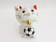 [Algeria] Football Maneki Neko Lucky Cat