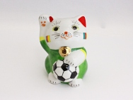 [Cameroon] Football Maneki Neko Lucky Cat