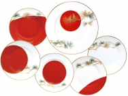 Sunrise & Pine Plate Set (6P)