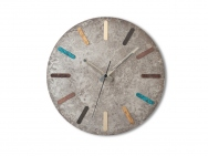Multicolored 'Patinized' Brass Wall Clock