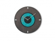 Bicolor 'Patinized' Brass Wall Clock
