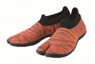 hitoe Zebra Orange - tabi shoes footwear