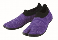 hitoe Zebra Purple - tabi shoes footwear