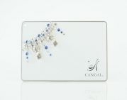 Blue Chandelier - CANGAL CARD MIRROR