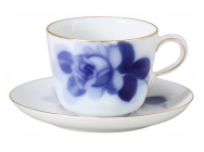 """Blue Rose"" Cup & Saucer (Morning)"