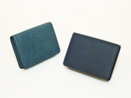 JAPAN BLUE Leather Business Card Holder