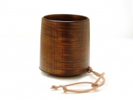 Urushi-lacquered Wooden Mug - tableware