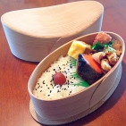 Bent Wood Bento Box - pillow