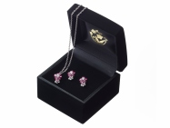 Dual-flower Necklace & Earrings set - Swarovski®