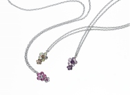 Dual-flower Necklace - Swarovski® crystals