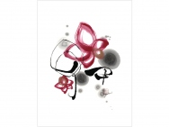 """Bonds"" by Picturesque Japanese Flower Calligraphy"