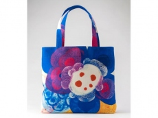 poppy parade - Portable Art A4 Original Bag by Junko Funada
