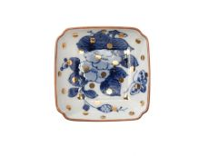 Peony & Butterfly Square Dish