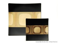 Square Plate - gold leaf dinner plate
