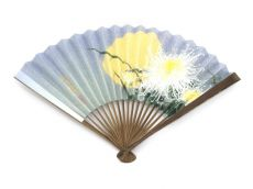 Japanese Folding Fans (Chrysanthemums & Moon)