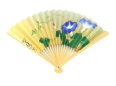 Japanese Folding Fans (Morning Glory)