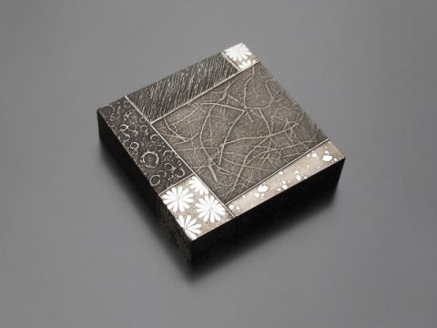 Sayanuri Silver-makie-lacquered Low Box