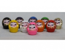 Mini Takasaki Daruma Set of 10