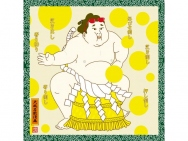 Large Furoshiki Manga Art: Sumo Summer