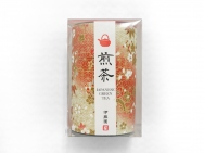 Set of 5, Yuzen japanese paper can green tee 80g