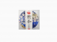 Set of 5, Yuzen japanese paper can green tee 30g
