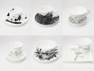 6 Artists + Cup & Saucer Pair Set by Nikko